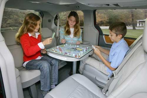 Sistema de asientos en el interior del Chrysler Grand Voyager