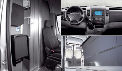 Equipamiento de serie Mercedes Sprinter Furgón interior