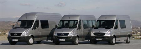 Furgonetas Mercedes Benz Sprinter a gas