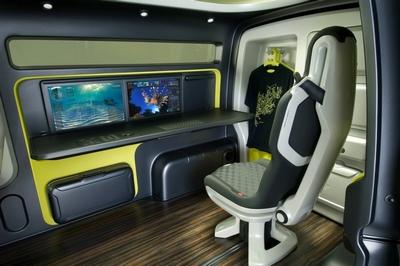 Interior de la furgoneta Nissan NV200